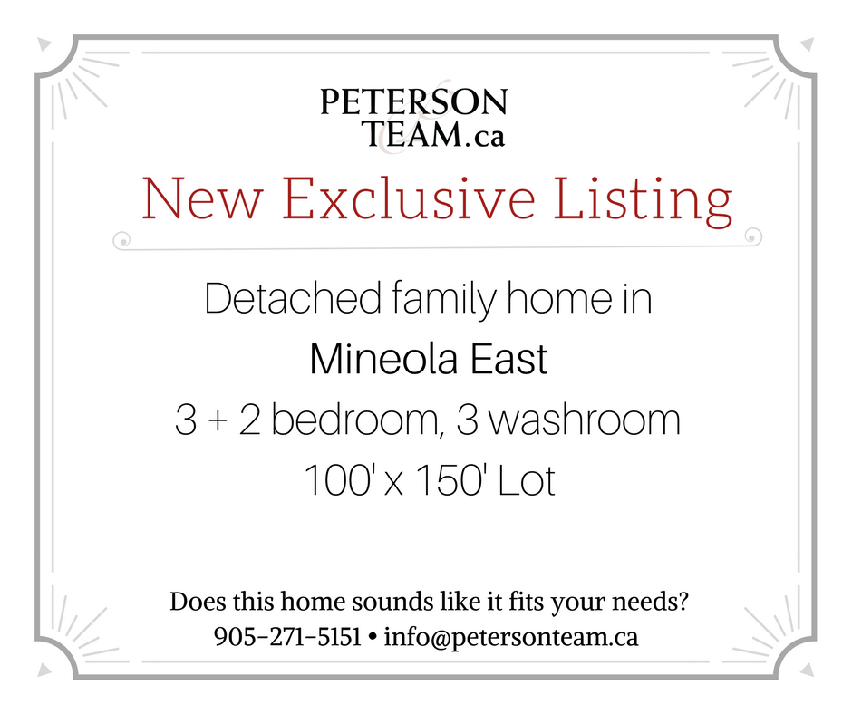 3+2 Bedroom Detached Home In Mineola East