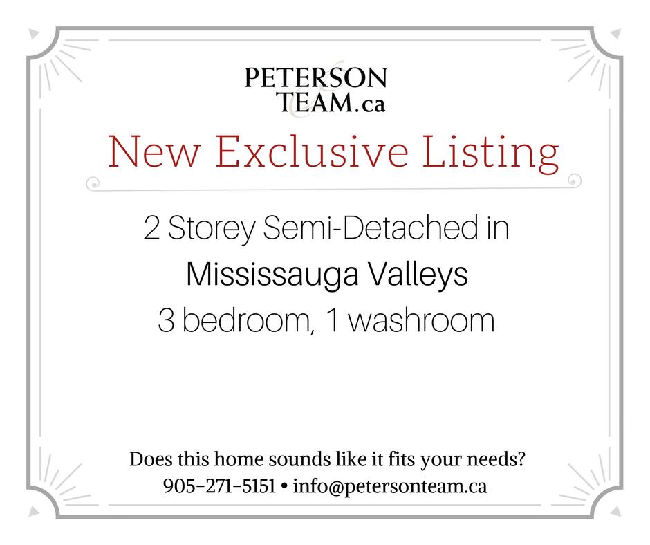 3 Bedroom Semi-Detached in Mississauga Valleys