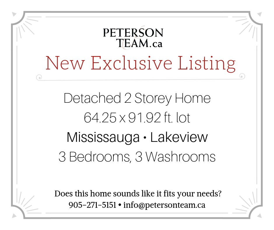 Detached 2 Storey Home in Lakeview