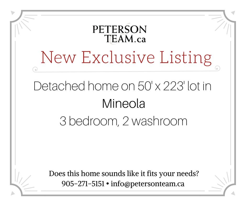 3 bedroom, 2 washroom home in Mineola