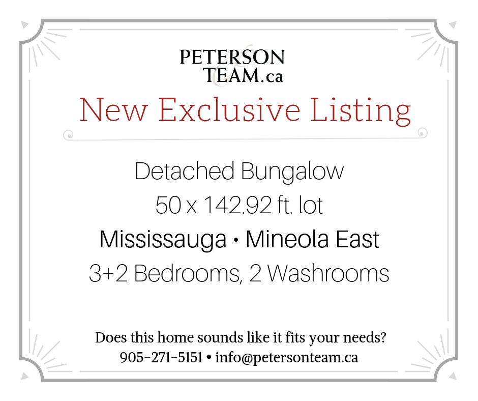 Detached Bungalow in Mineola East!