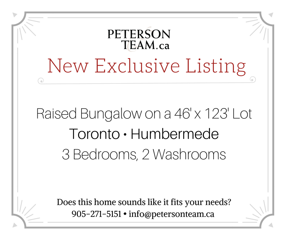 3 Bedroom Raised Bungalow in Toronto