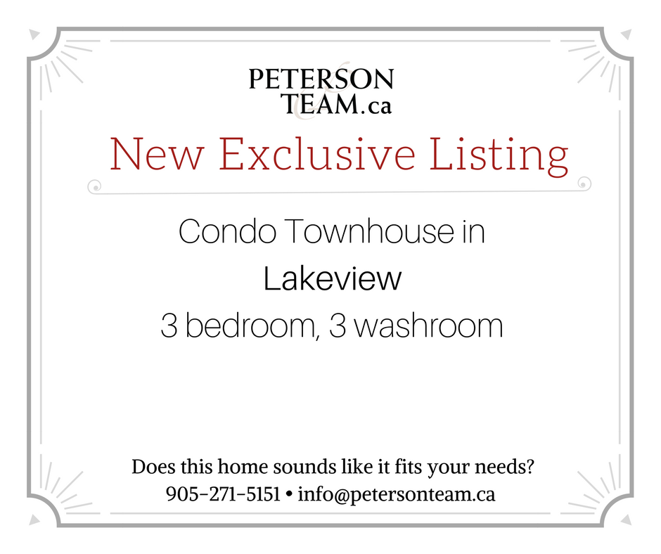 3 Bedroom, 3 Bathroom Condo Townhouse in Lakeview!