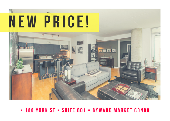180 York Street Unit 801 | Trendy 2 Bedroom Condo in Byward Market