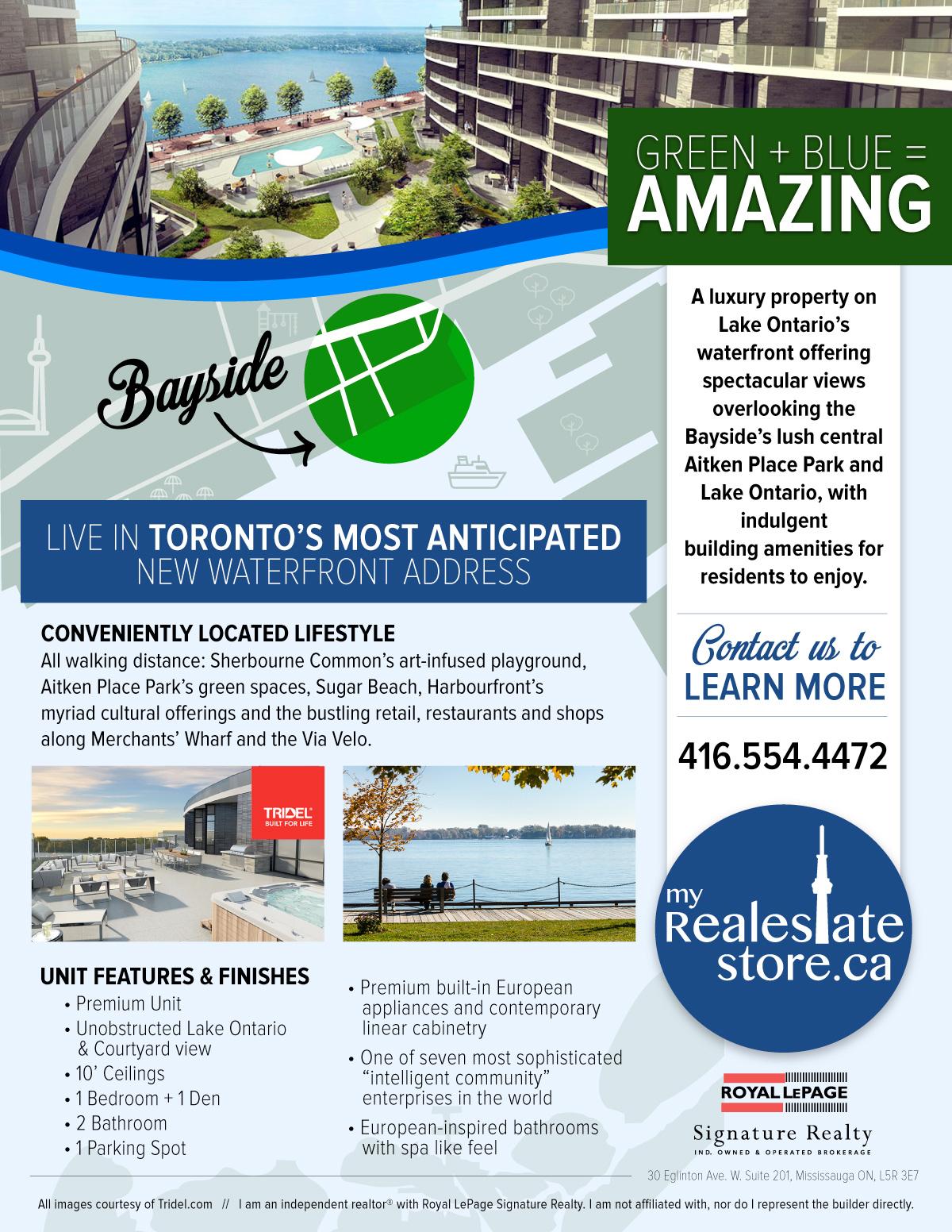 Exclusive Unit at Torontos New Blue Edge