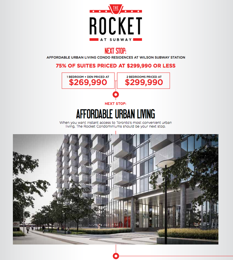 The Rocket at Subway Condos