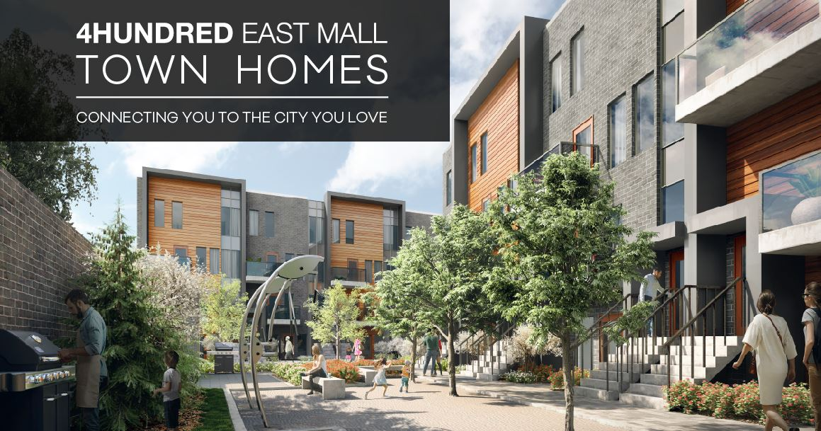 4HUNDRED EAST MALL Stacked Townhomes Last Opportunity Low Builders Price End Soon