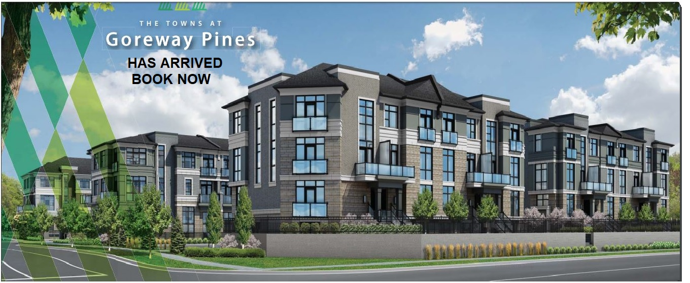 The Towns at Goreway Pines Launching Today From  Mid $400s