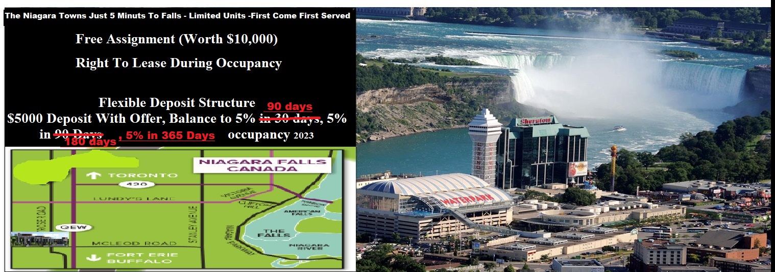 Niagara Falls Modern Stacked Towns From $287,900 - Occupancy 2023 SOLD OUT