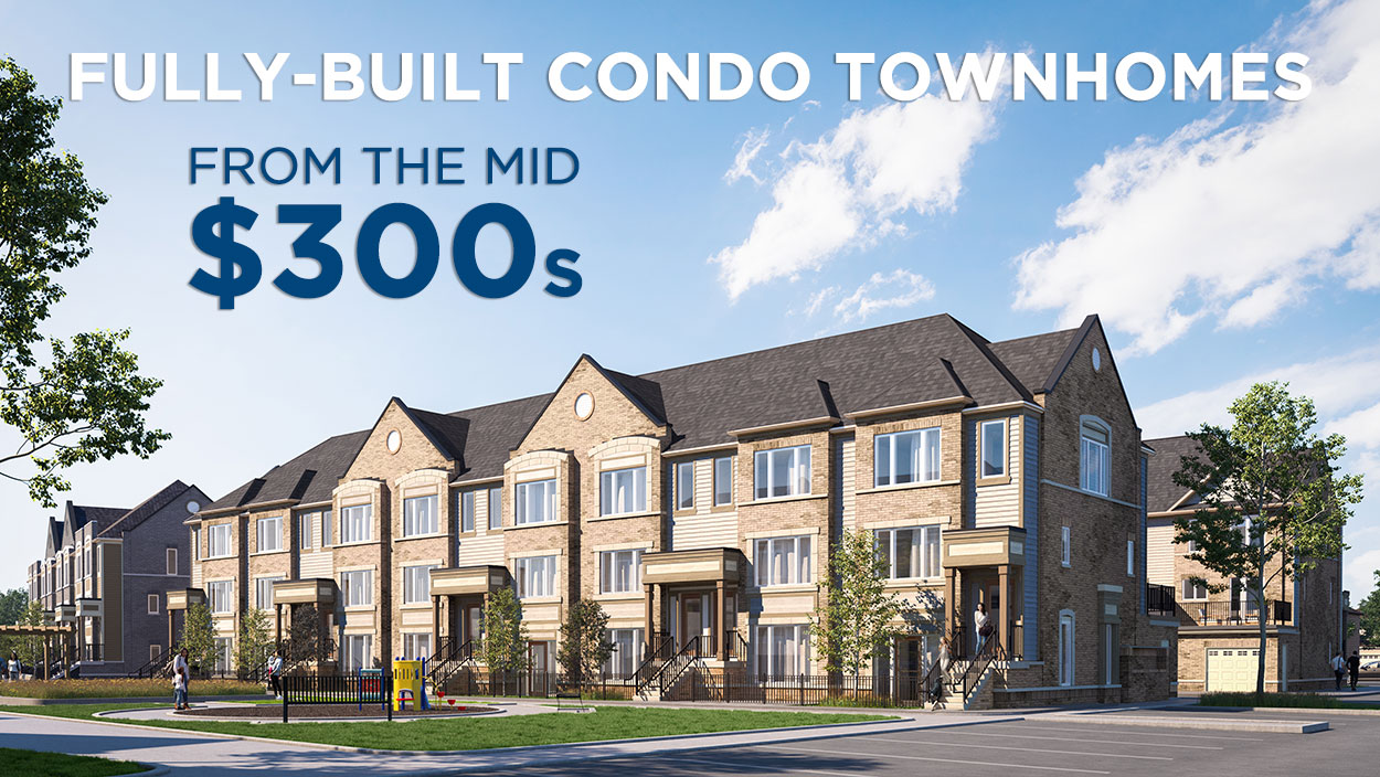Brand New Condo Townhomes from mid $300,000s
