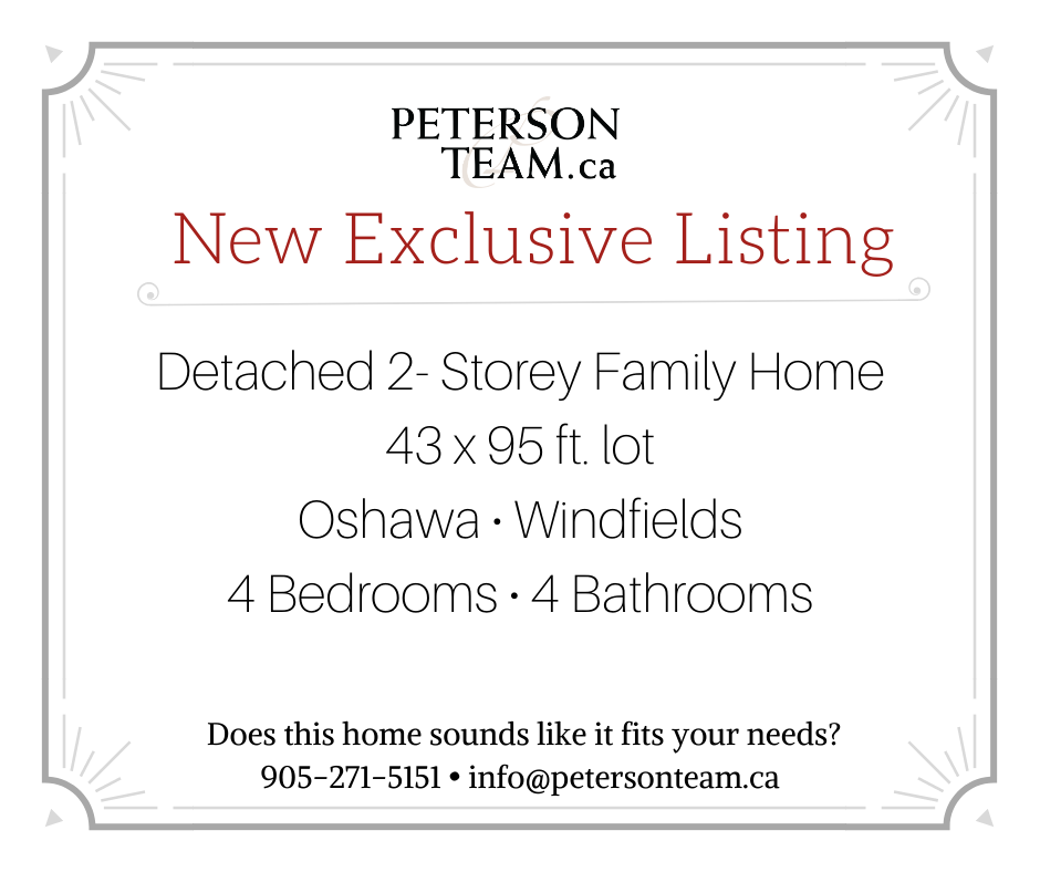 Detached 4 Bedroom Home in Oshawa