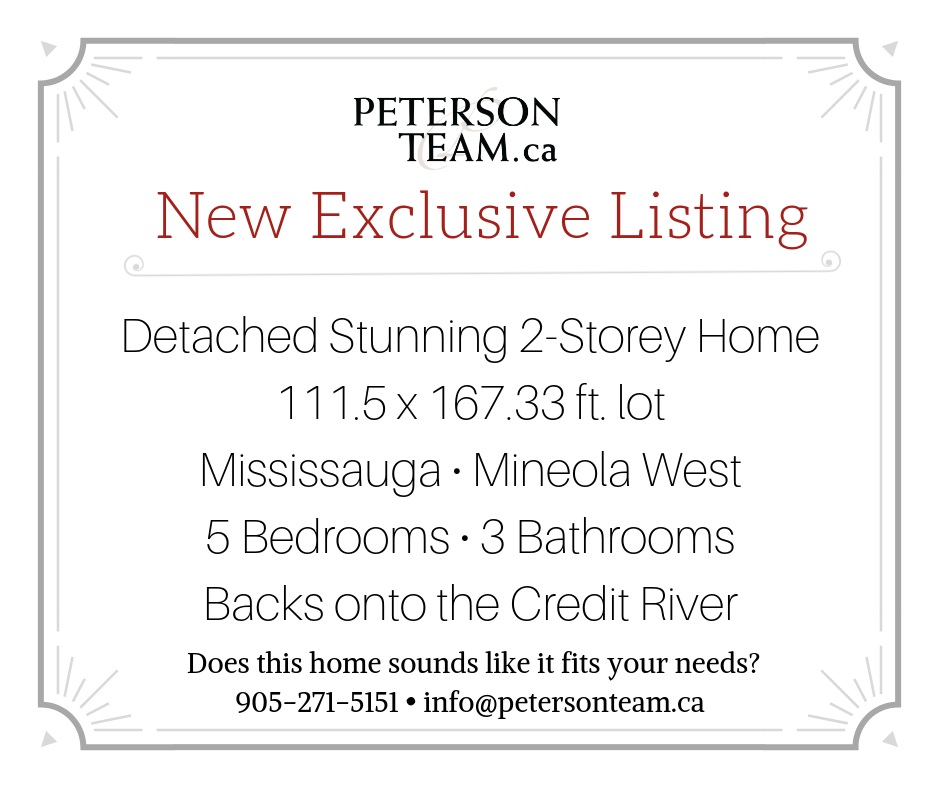 Stunning Home on the Credit River!