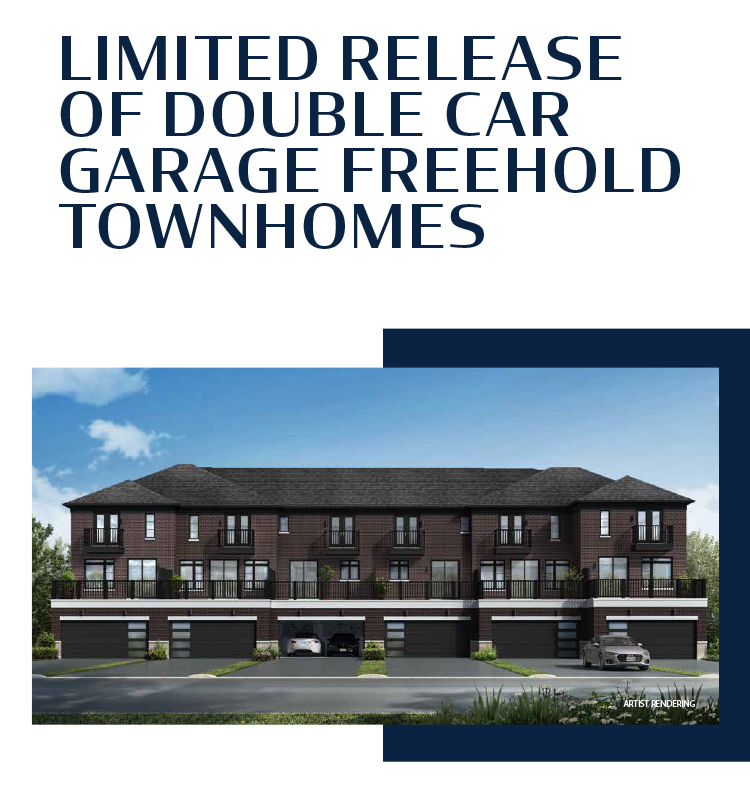 Double Car Garage Freehold Townhomes